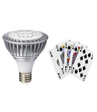 LED Light playing Card Device