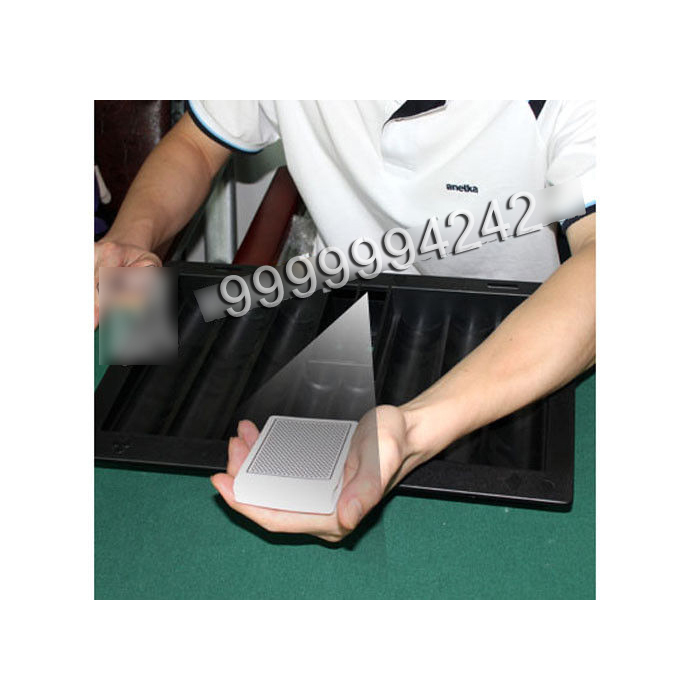 Poker Scanner Black Plastic Poker Table Chip Tray With Hand Held Camera