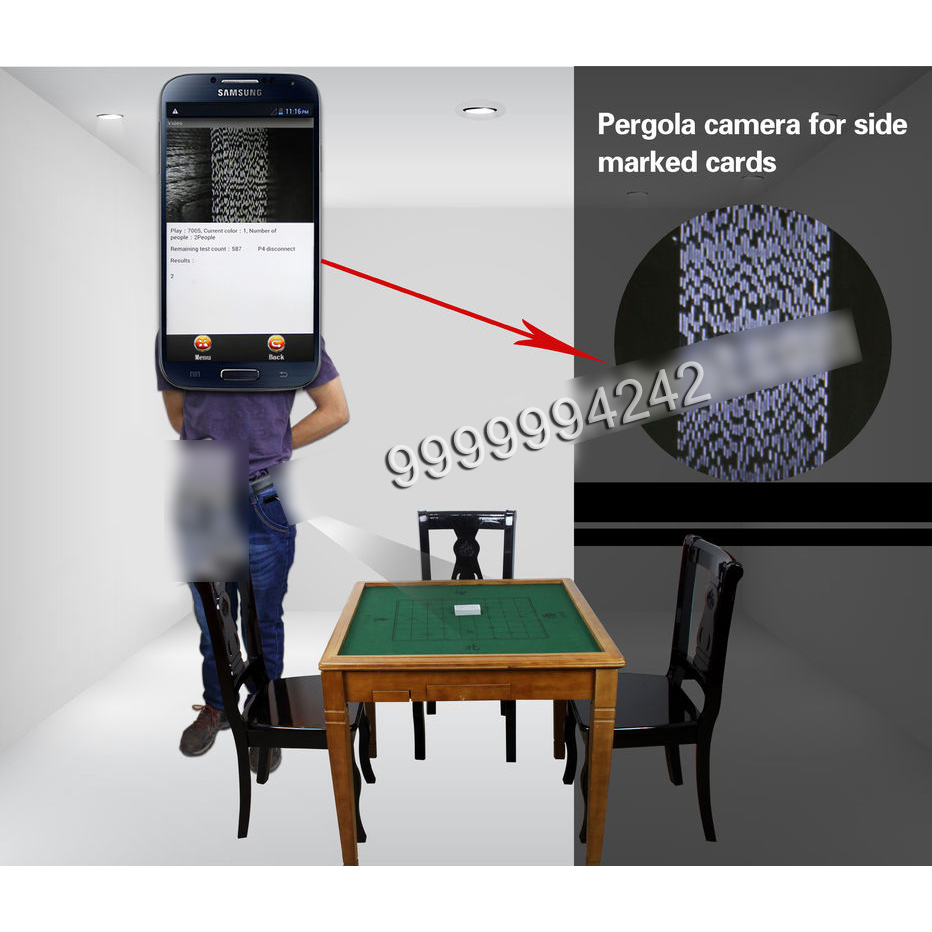 Infrared Camera Black Trousers Label Poker Scanner For Marked Playing Cards